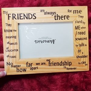 MEMORIES WOODEN FRIENDS QUOTE PICTURE FRAME!